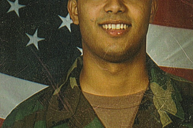 J.R. Martinez as a young private, shortly after joining the Army, and before sustaining burns over 40 percent of his body in a 2003 landmine blast in Iraq.