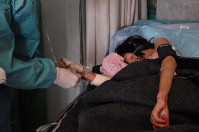 Young Afghan burn victim