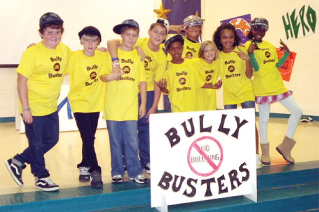 "Students at Chesterfield County's Alberta Smith Elementary School perform as the ""Bully Busters,"" a rap genre muscial group."