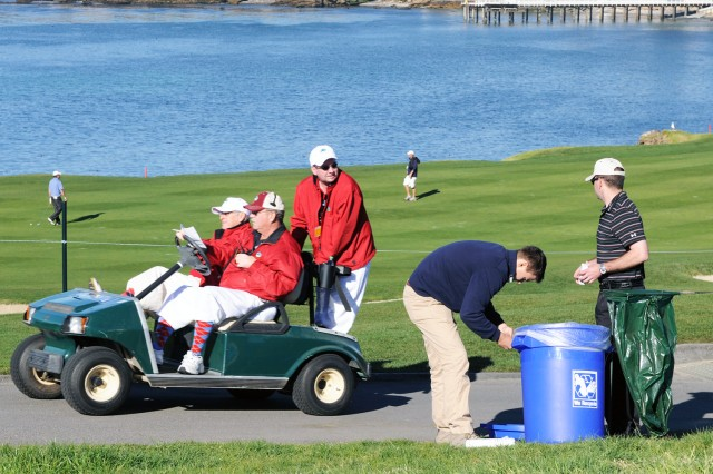 Service members volunteer again for the AT&T Pro-Am