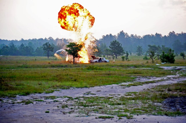 1st Cavalry Division Soldiers conduct a live-fire exercise at the Joint Readiness Training Center, Fort Polk, La., in June.