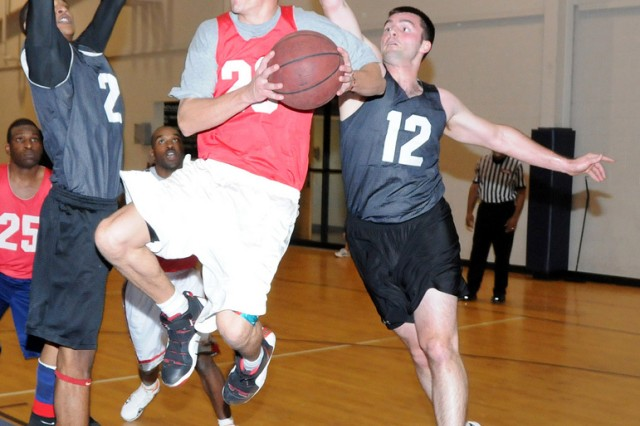 597th grounds 23rd FTS in intramural basketball
