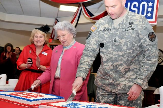 Fort Drum celebrates USO birthday, legendary volunteer