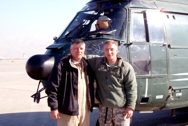 Duty to country unite father, son in Afghanistan