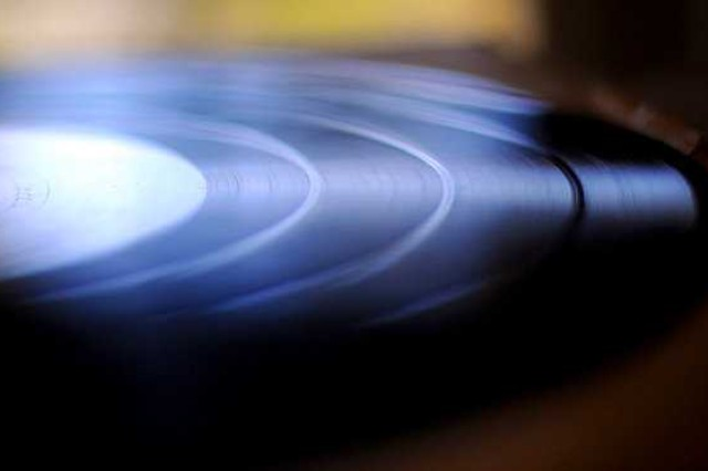 This 16-inch vinyl transcription is part of a vast collection from the Armed Forces Radio Service dating back to the 1940s were found last month by contractors performing renovations at Keeler Sports and Fitness Center.