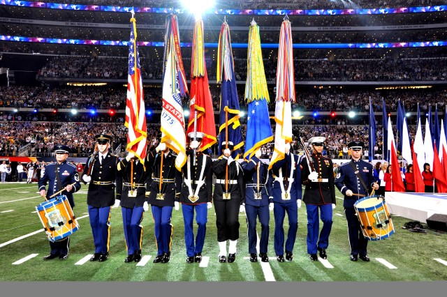 Old Guard Soldiers participate in Superbowl XLV