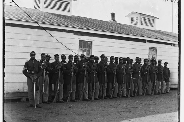 Co. E, 4th U.S. Colored Infantry, Ft. Lincoln, defenses of Washington.