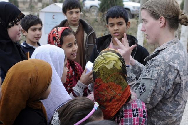 1st Lt. Rebecca Wagner visits orphanage