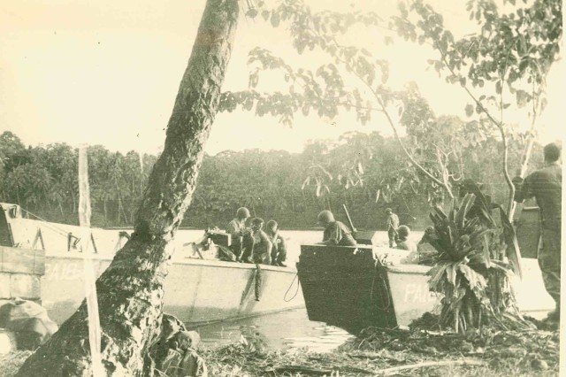 Army Soldiers land at Rendova Island on June 30, 1943, as part of OPERATION TOENAILS during the campaign for New Georgia in the Solomon Islands chain.