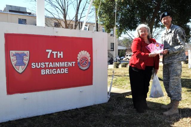 Local veteran's group brings Valentine cheer to brigade's heroes