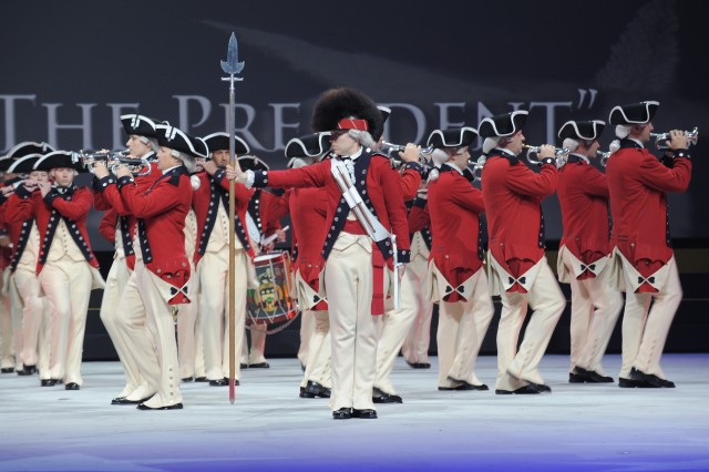 Soldiers from The Old Guard Fife and Drum Corps perform during Spirit of America 2010.