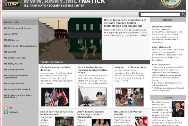 Natick website named IMCOM's best