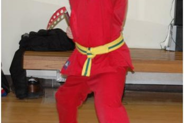 Leah Jones (pictured) and Hannah Secrist's taekwondo lessons at APG pay off big during recent competitions.