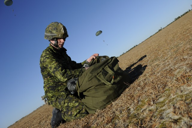 Canadian paratrooper at JOAX
