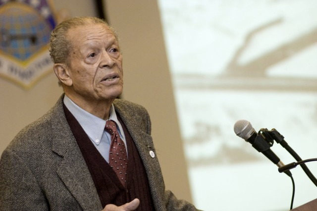 Tuskegee Airman shares his story of serving with distinction
