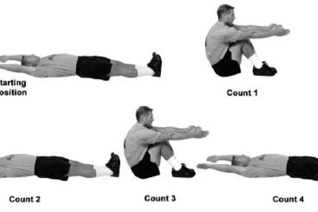This diagram shows the different positions included in the rower exercise.