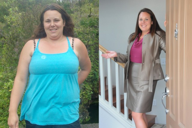 """SCHOFIELD BARRACKS, Hawaii - Local military spouse and mother of five, Julie Totive, dropped eight dress sizes and almost 60 pounds in six months. Totive was featured in """"Women's World."""""""