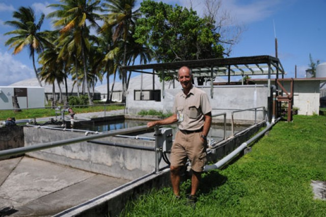 Stan Jazwinski serves as the liquid systems manager at Kwajalein. Part of his job includes managing water reclamation on the island.
