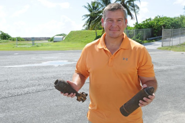 Brian Bussey serves as an unexploded ordnance technician on Kwajalein.