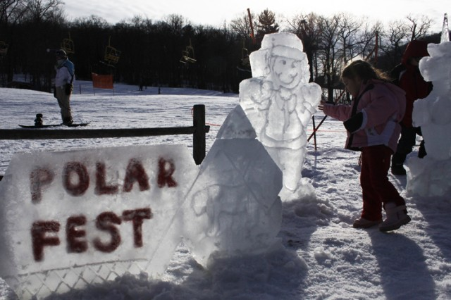 Some of the creations of Sgt. 1st Class Andre Rush, senior enlisted aide to the U.S. Military Academy superintendent, proved to be crowd-pleasers at the 2011 Polar Fest.