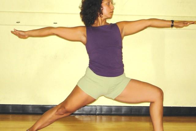 Diana Martinez teaching yoga