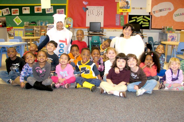 CYSS pre-K students show off their smiles.