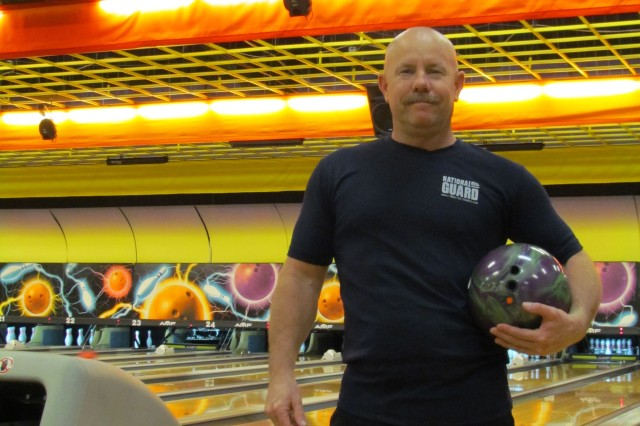 Retired Sgt. 1st Class Joe Cox participates in the Wednesday Night League at Redstone Lanes, where he bowled a perfect game Jan. 26.