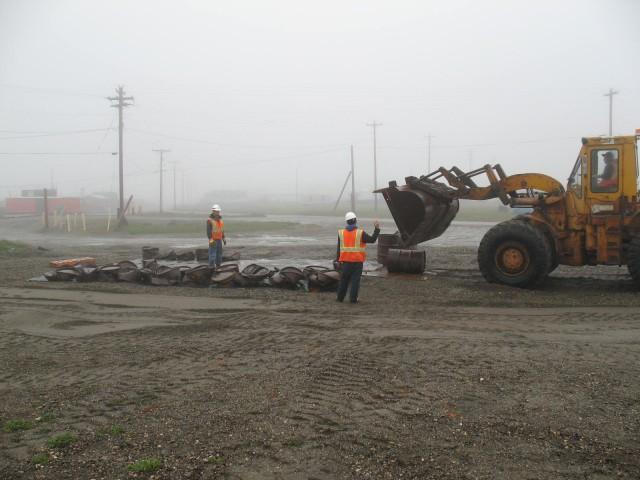 Drum cleaning and crushing in Kaktovik
