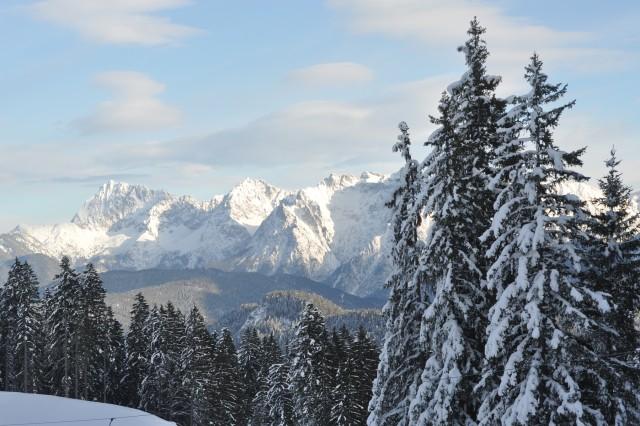 The Alps above Garmisch, Germany.