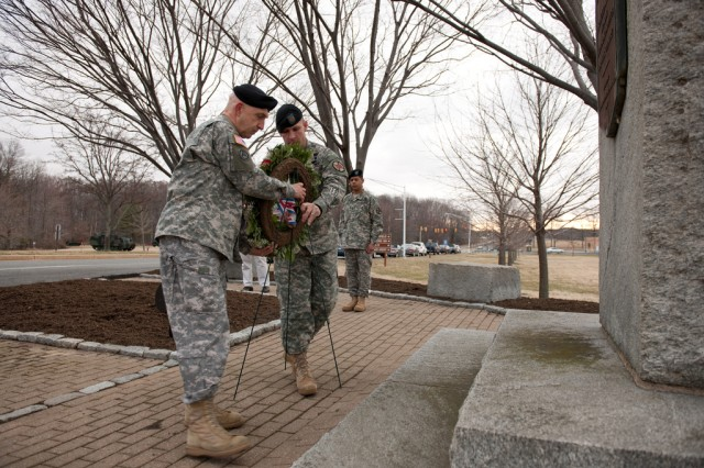 Wreath laying at Edgewood area at APG