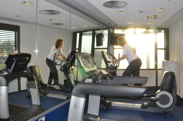 Guests are invited to work out in the lodge's fitness room during their stay.