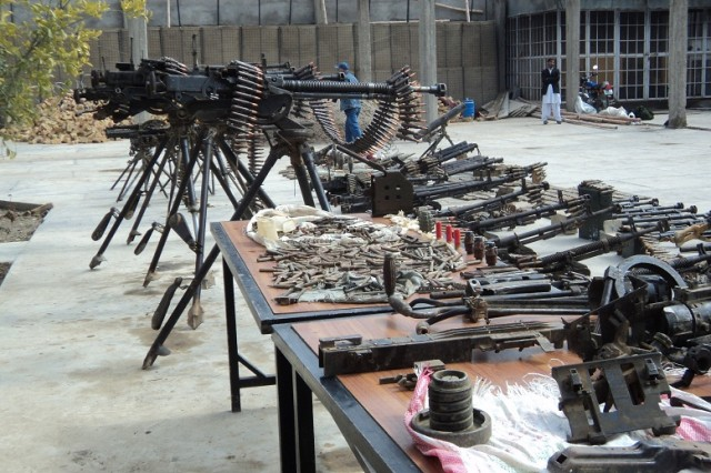 Seized weapons on Afghanistan
