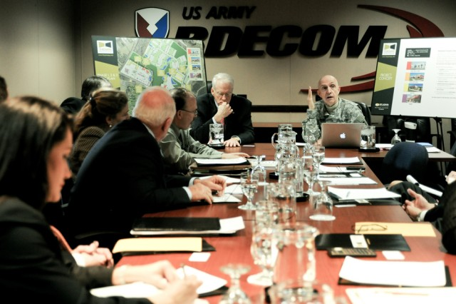 U.S. Army leaders and Maryland state officials met March 8 at Aberdeen Proving Ground, Md., to discuss the area's educational needs.