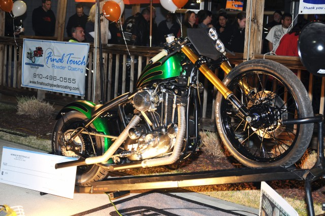 Local bike shop auctions custom bike, presents proceeds to Fort Bragg Fisher House