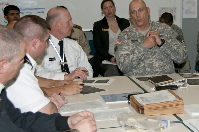 Distinguished visitors and mentors like Gen. Raymond Odierno, Commander, Joint Forces Command and 1995 Army War College Grdauate, add to the exercise.