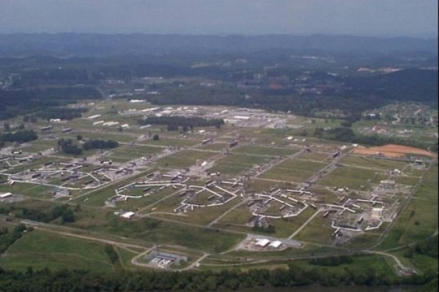 US Army photo. Aerial view of Holston Army Ammunition Plant.