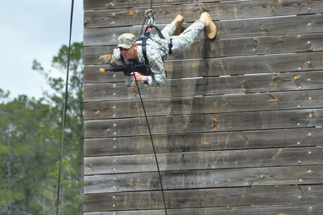 Rangers from the Ranger Training Brigade - which runs the U.S. Army Ranger School - held a Rangers In Action event showcasing their abilities. The event kicked-off the Army Strong Experience.