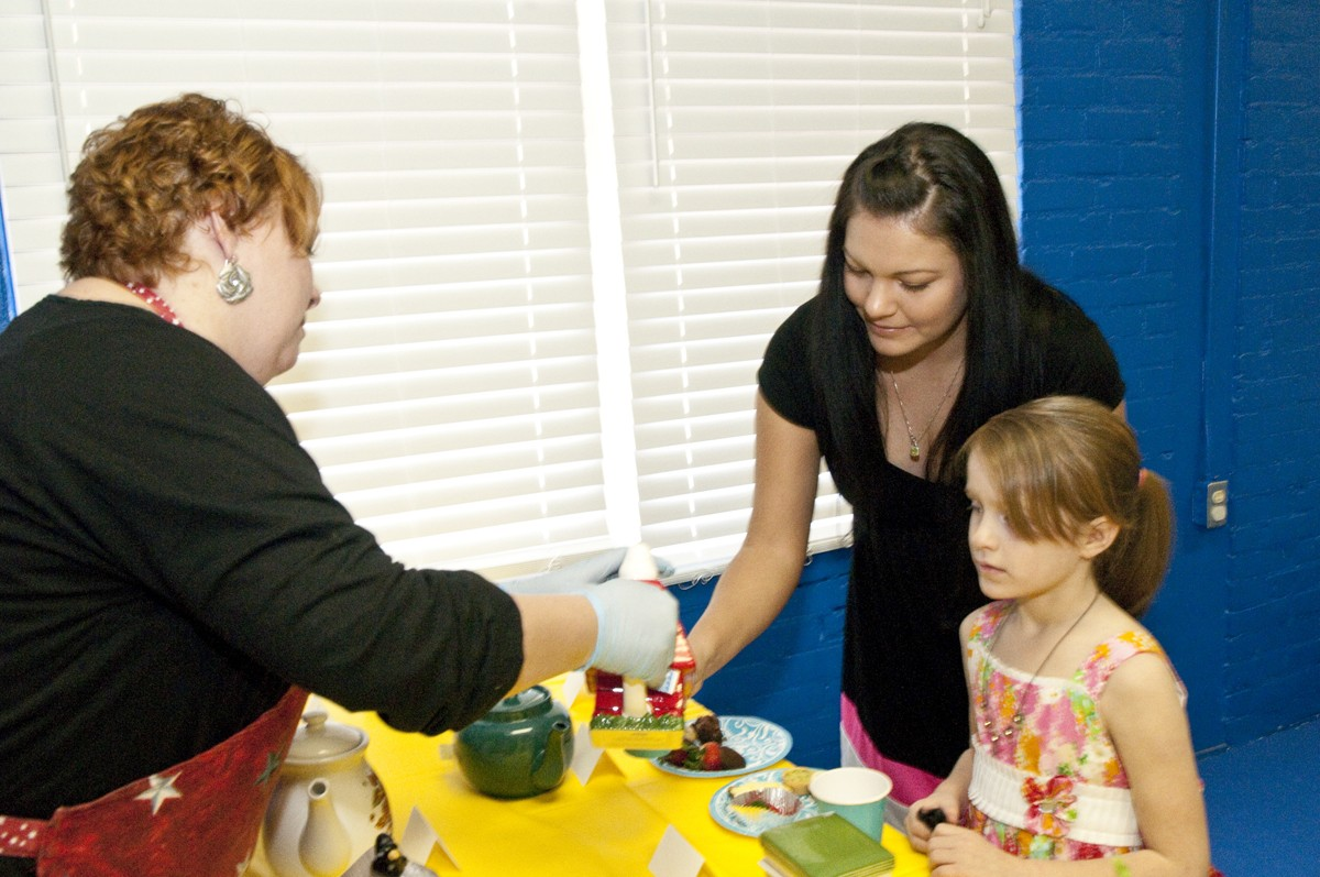 Fort Bragg mothers, daughters, grandmothers enjoy tea at
