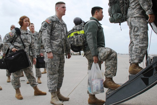 About 30 10th Support Group Soldiers deployed from Torii Station, Japan, to provide humanitarian aid to the citizens of Japan after an earthquake and tsunami crippled the country on March 11.