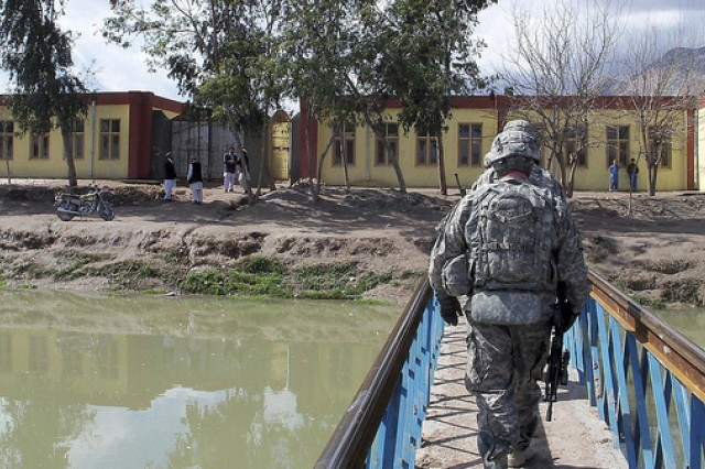 Checking out Afghan school