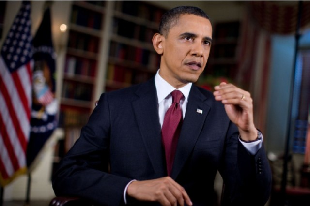 President Barack Obama told reporters in Santiago, Chile, that he directed Defense Secretary Robert M. Gates and Chairman of the Joint Chiefs of Staff Navy Adm. Mike Mullen to move forward with military action only after it became clear that his warnings to Libyan leader Moammar Gadhafi had fallen on deaf ears.