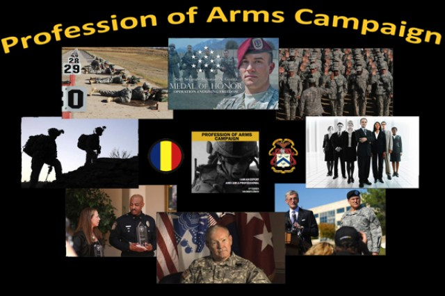 Profession of Arms Campaign graphic