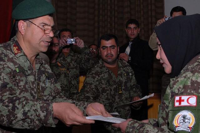 Female Afghan nurse graduates