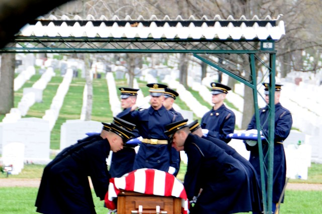 The remains of 2nd Lt.  Robert A. Miller are brought first from the chapel.