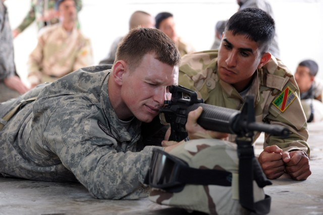 Training Iraqi marksmen