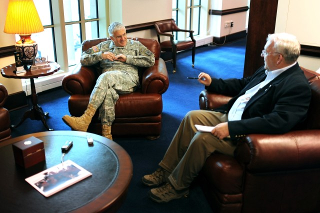 Gen. George W. Casey Jr. discusses the challenges he has faced as Army chief of staff with Jim Garamone of American Forces Press Service. Casey is retiring in April 2011, after four decades of service.