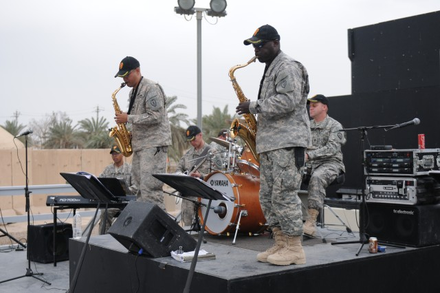 The 25th Infantry Division jazz band performed for the Women's History Month observance ceremony as part of their tribute to the women in the military.