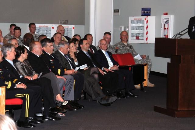 Col. Moran speaks to audience