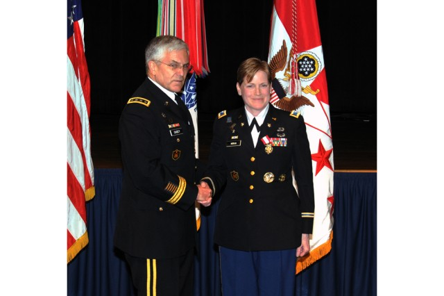 Army Chief of Staff Gen. George W. Casey Jr. thanked Col. Sylvia Moran March 25, for her years of service to the nation.