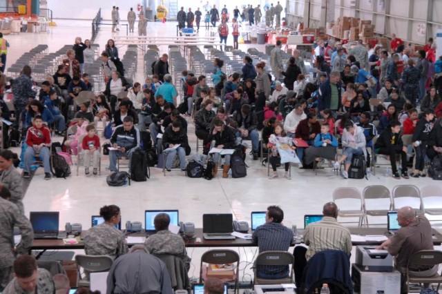 Families at Denver International Airport